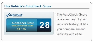 AutoCheck Free Report - The AutoCheck Score