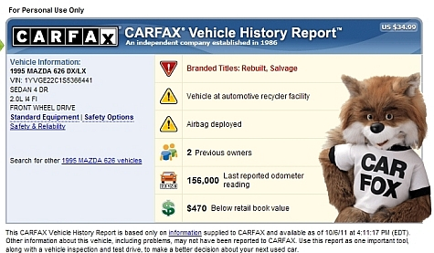 Carfax Free Report - Vehicle Overview